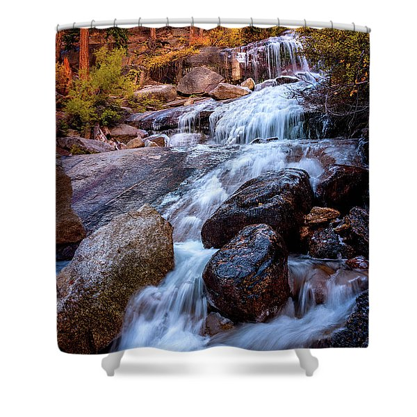 Icy Cascade Waterfalls Shower Curtain