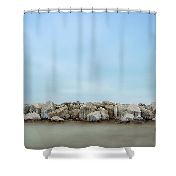 Icy Morning Shower Curtain