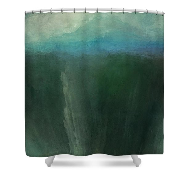Icy Mountain Shower Curtain