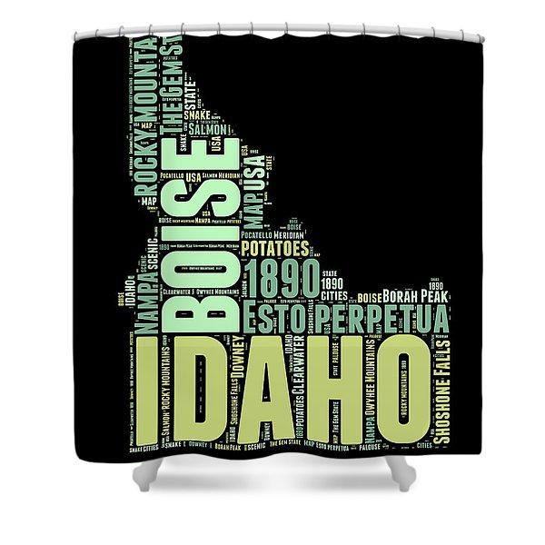 Idaho Word Cloud 1 Shower Curtain
