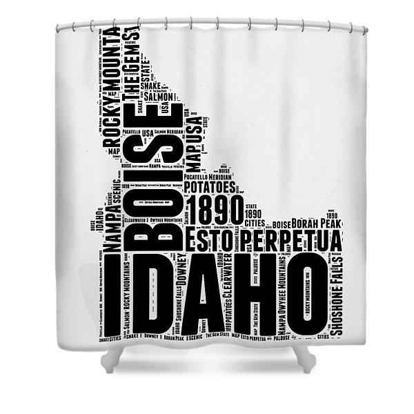 Idaho Word Cloud 2 Shower Curtain