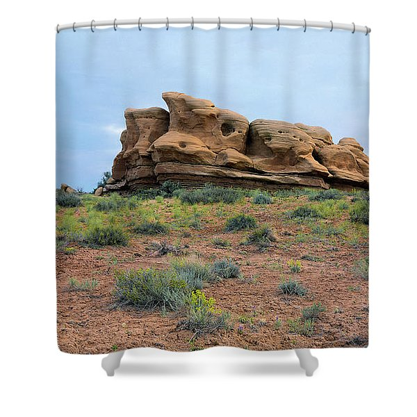 Idol Time Pano Version Shower Curtain