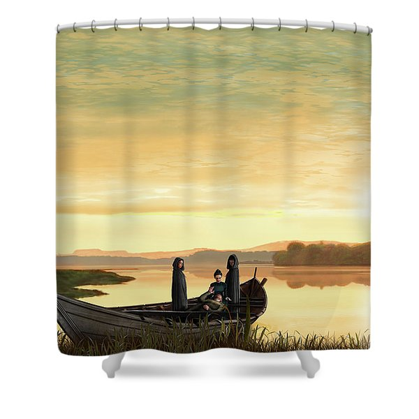 Idylls Of The King Shower Curtain