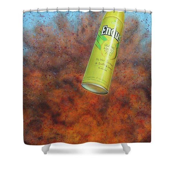 i.e.d. 2 Shower Curtain by James W Johnson