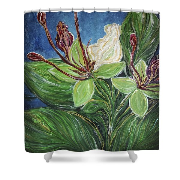 Ifit Flower Guam Shower Curtain