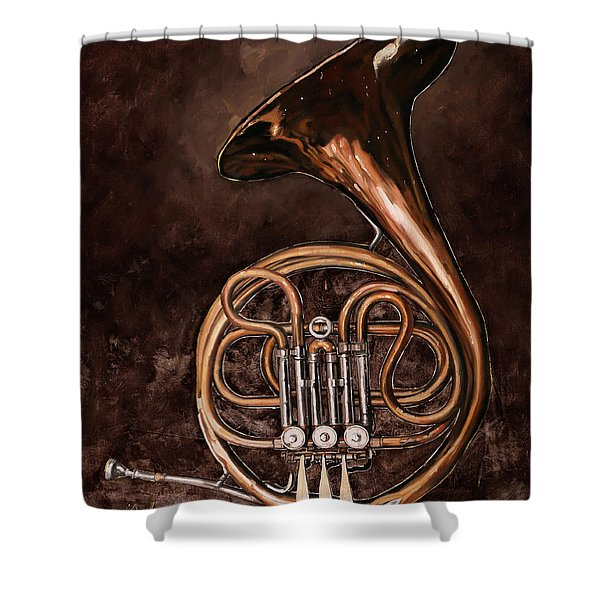 Il Corno Francese Shower Curtain