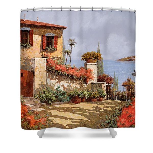 Il Giardino Rosso Shower Curtain