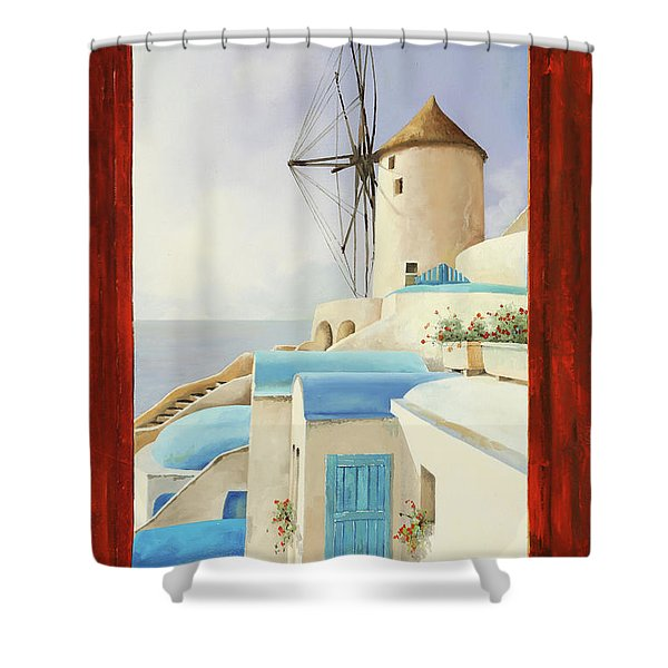 Il Mulino Oltre La Finestra Shower Curtain