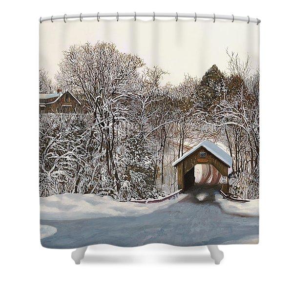 Il Ponte Coperto Di Legno Shower Curtain