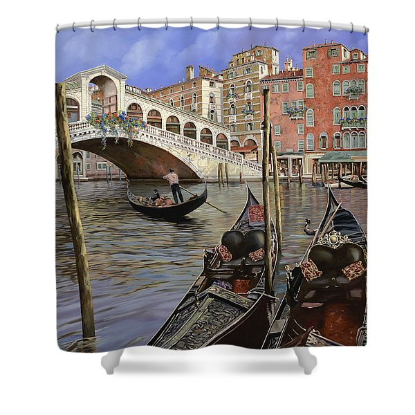 Il Ponte Di Rialto Shower Curtain