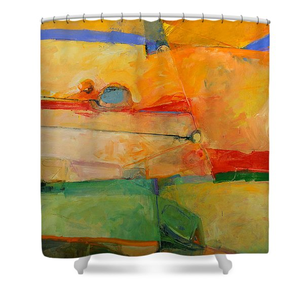 Shower Curtain featuring the painting I'm In Corn  by Cliff Spohn