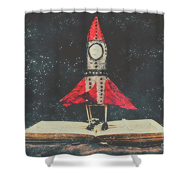 Imagination Is A Space Of Learning Fun Shower Curtain