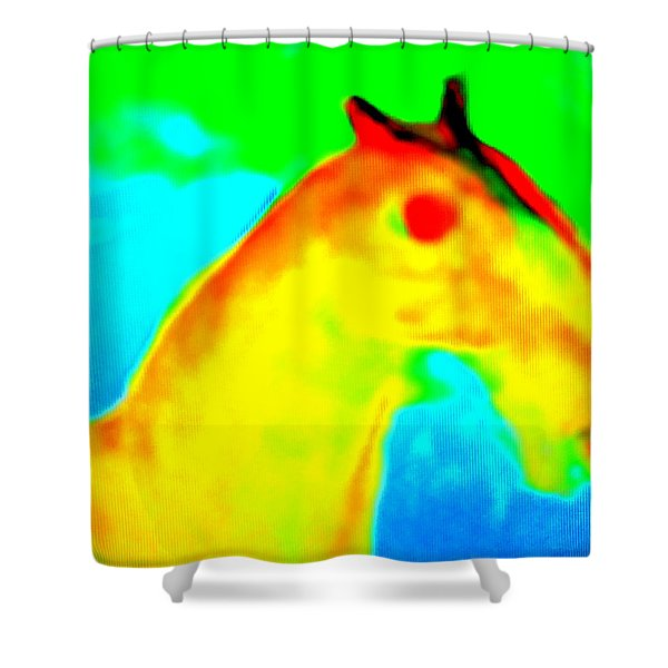 Imagine All The People And All The Horses  Shower Curtain