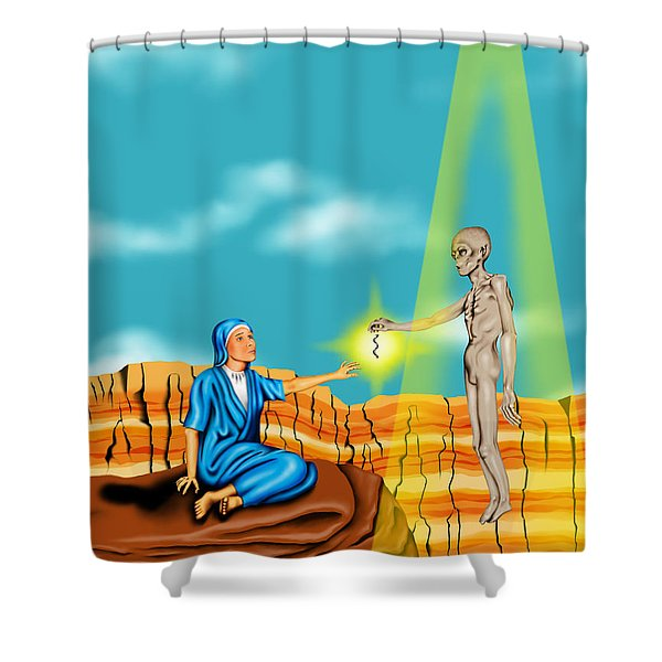 Immaculate Conception Shower Curtain