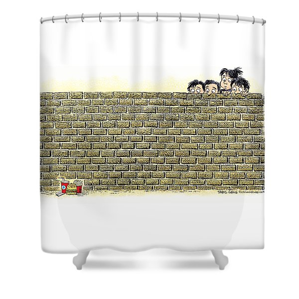 Immigrant Kids At The Border Shower Curtain