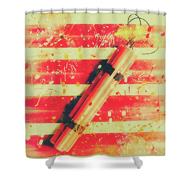 Impact Blast Shower Curtain