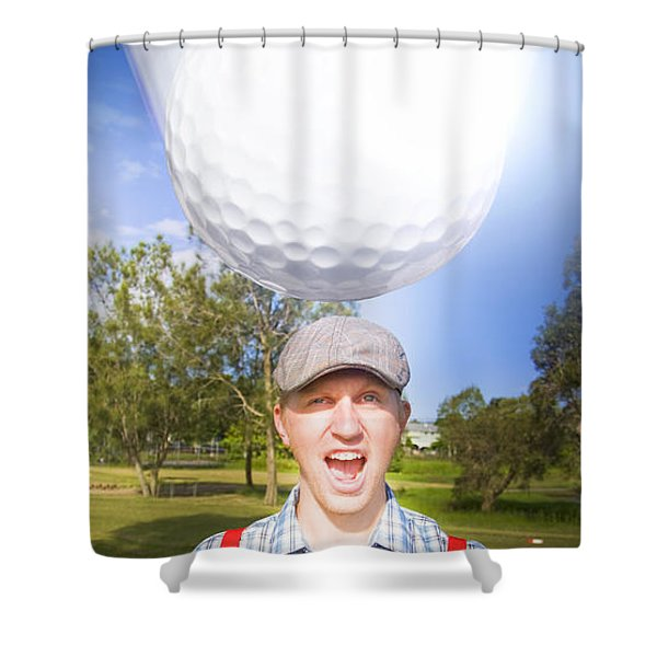 Impending Golf Injury Shower Curtain