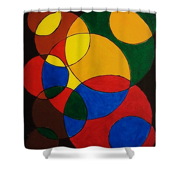 Imperfect Circles Shower Curtain
