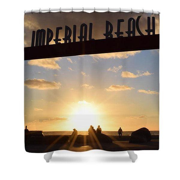 Imperial Beach At Sunset Shower Curtain