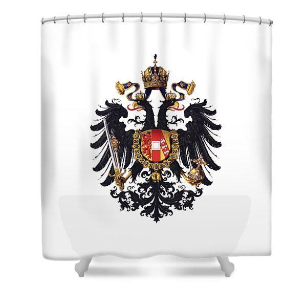 Imperial Coat Of Arms Of The Empire Of Austria-hungary 1815 Transparent Shower Curtain
