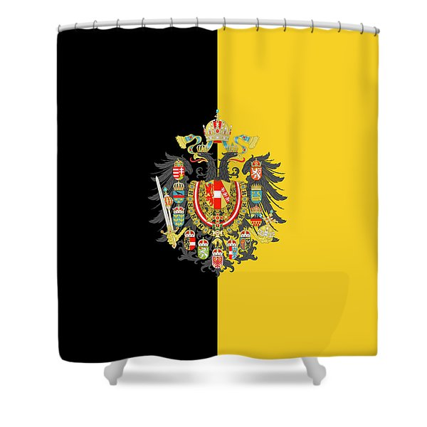 Habsburg Flag With Imperial Coat Of Arms 2 Shower Curtain