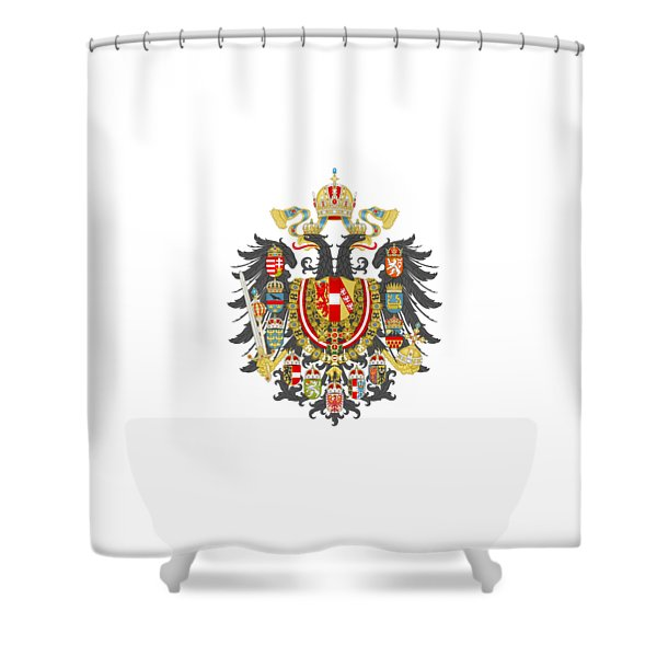 Imperial Coat Of Arms Of The Empire Of Austria-hungary Transparent Shower Curtain