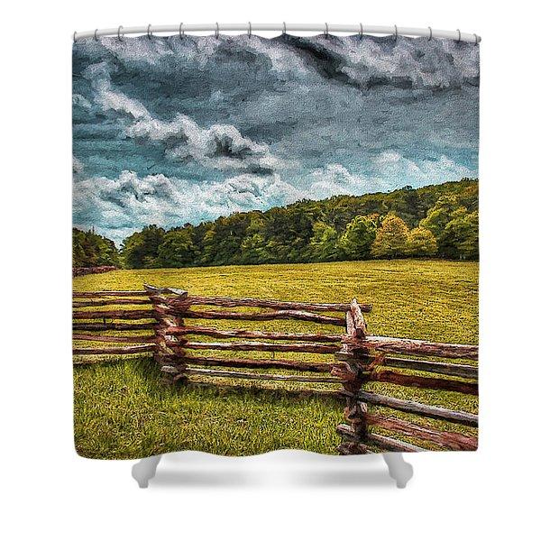 Impressionist Kennesaw Battlefield Shower Curtain