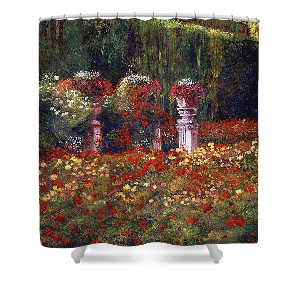 Impressions Of An English Rose Garden Shower Curtain