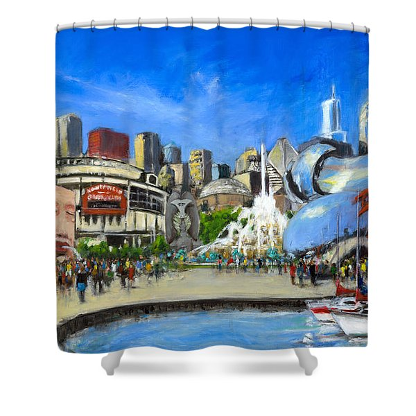 Impressions Of Chicago Shower Curtain