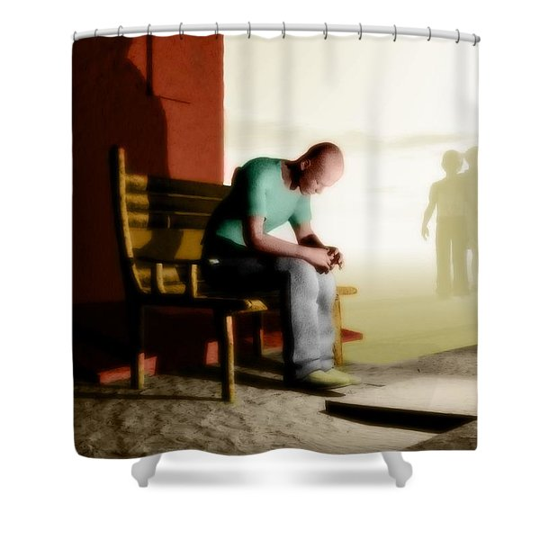 In A Fog Of Isolation Shower Curtain