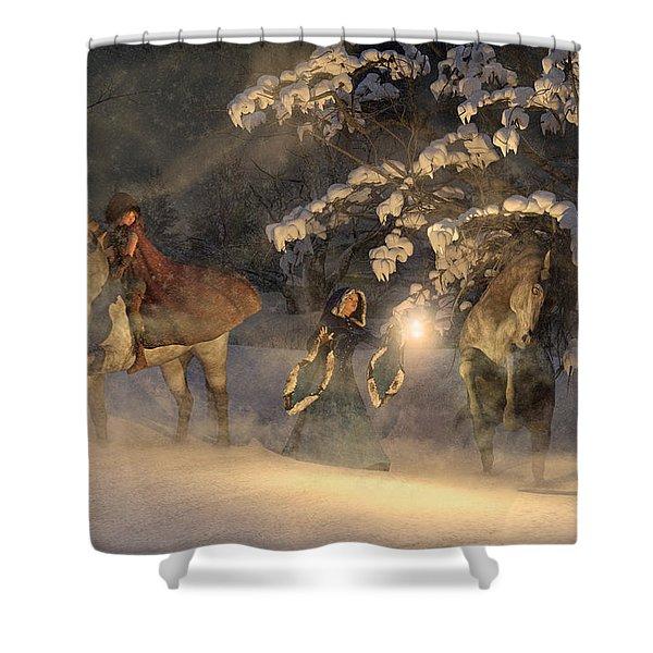 In A Land Far Far Away Shower Curtain