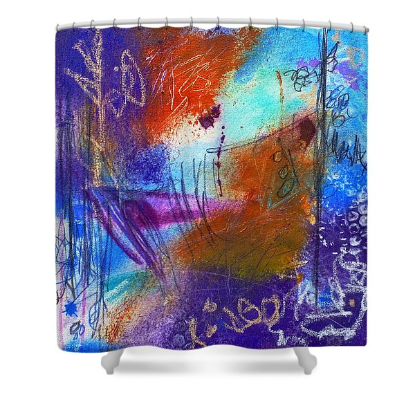 In A Summer Sky Shower Curtain
