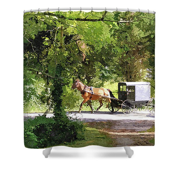 In Amish Country Shower Curtain