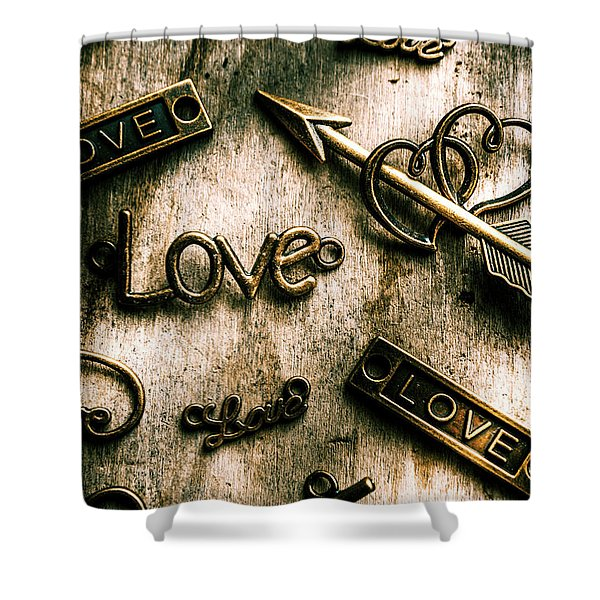 In Contrast Of Love And Light Shower Curtain