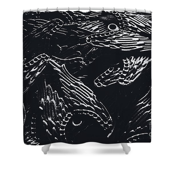 In Contrasts Of Light And Darkness Shower Curtain