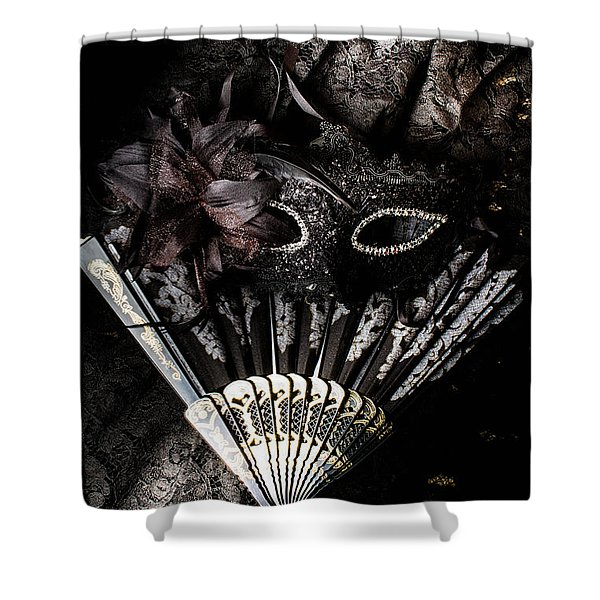 In Fashion Of Mystery And Elegance Shower Curtain