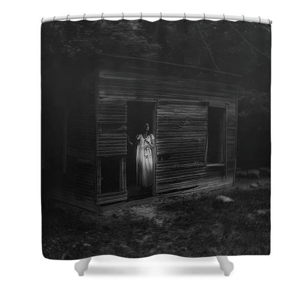 In Fear She Waits Shower Curtain