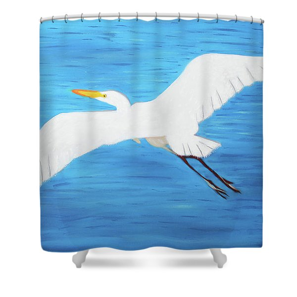 In Flight Entertainment Shower Curtain