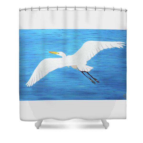 In Flight Entertainment Shower Curtain