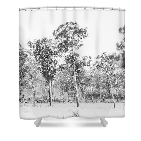 In Gusts Of A Snowstorm Shower Curtain