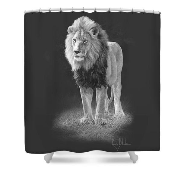 In His Prime - Black And White Shower Curtain