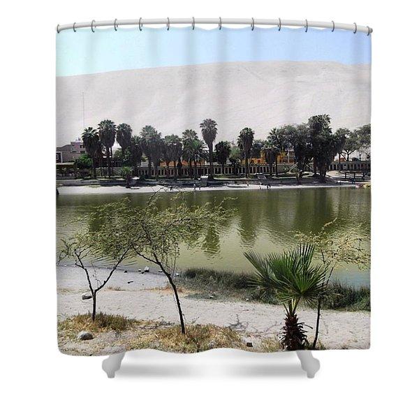 Huacachina Desert Oasis Shower Curtain