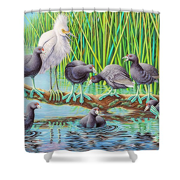 in Kahoots with Coots Shower Curtain