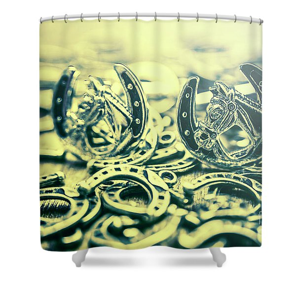 In Luck Of The Horse Race Shower Curtain