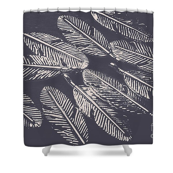 In Metal Nests Shower Curtain