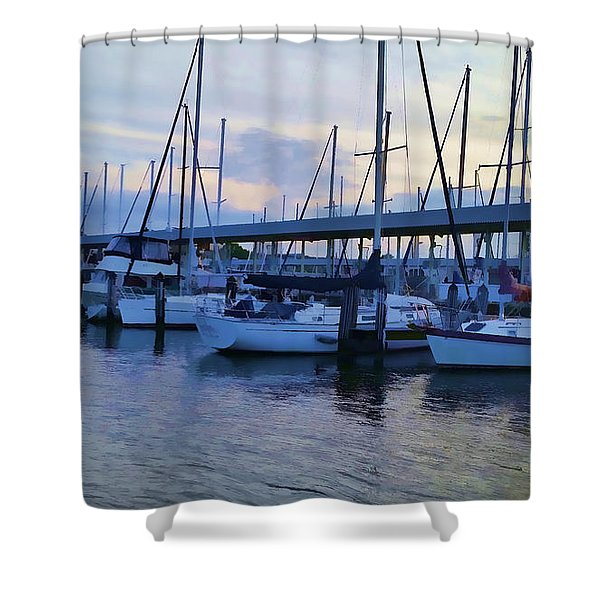In My Dreams Sailboats Shower Curtain