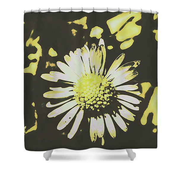 In Retro Spring Shower Curtain