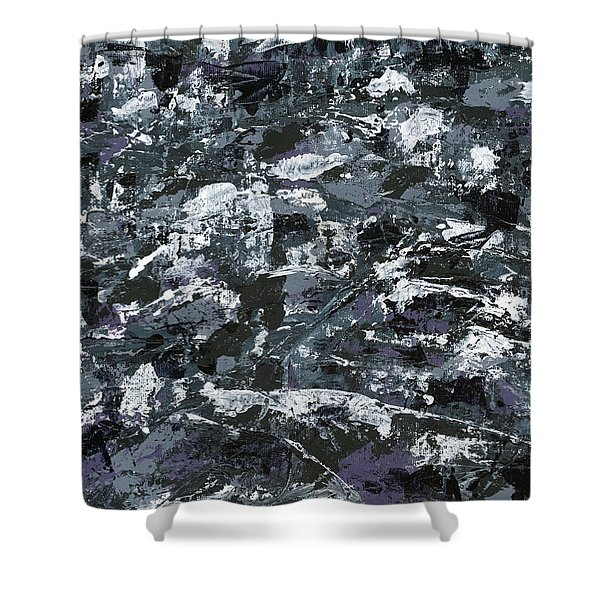 In Rubble Shower Curtain