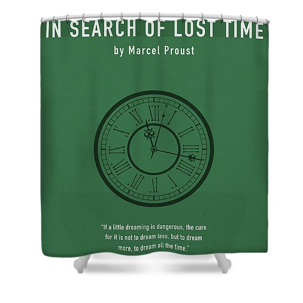 In Search Of Lost Time Greatest Books Ever Series 007 Shower Curtain