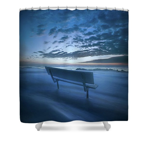 In Silence And Solitude Shower Curtain